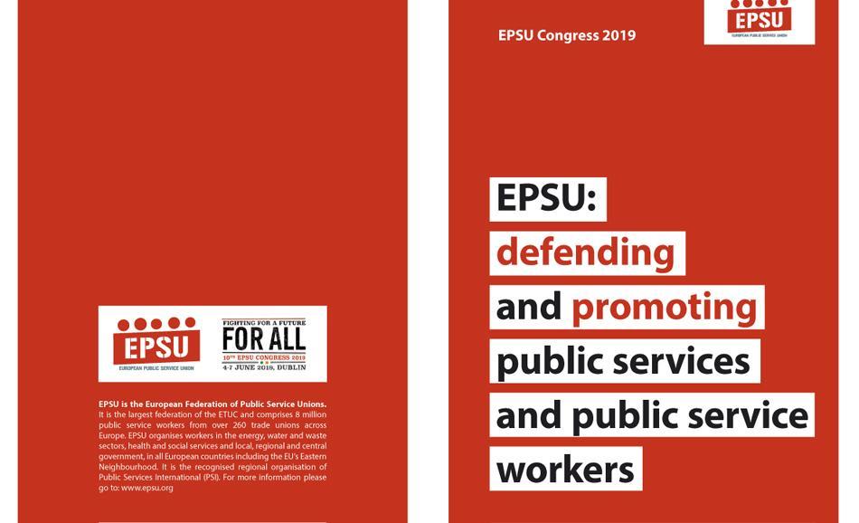 EPSU Congress briefing 9 : EPSU