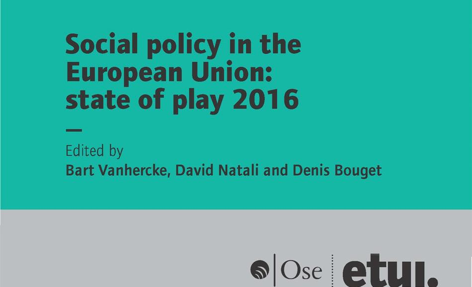cover report OSE ETUI Social Policy in the EU - 2016