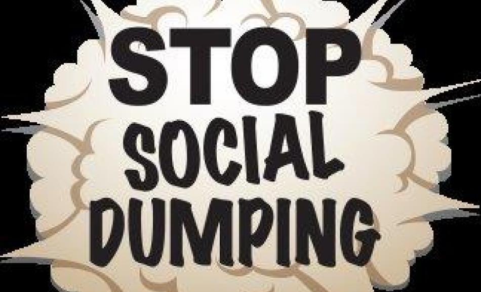 Ending social dumping –European trade union campaign. Logo of ACCG.