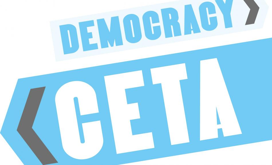 CETA: Trading away democracy logo