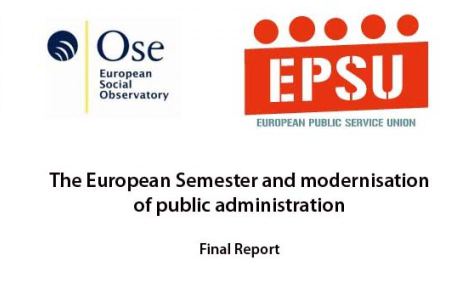 The European Semester and modernisation of public administration REPORT Nov 2015