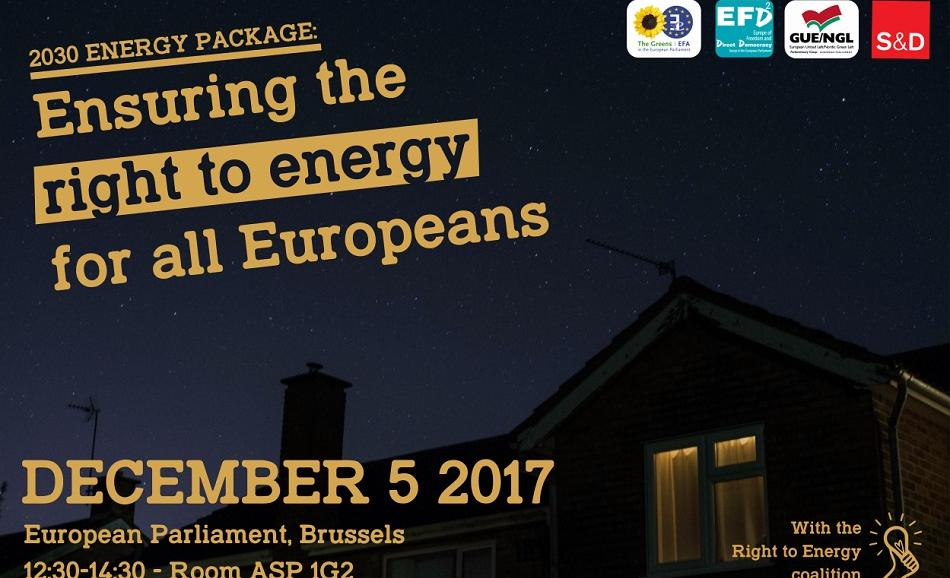 Right to energy event 5 December 2017