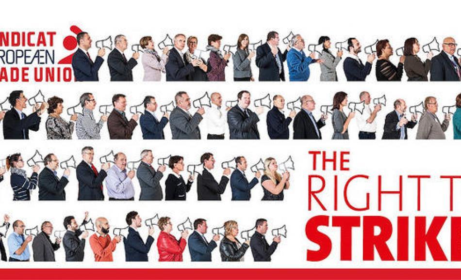 ETUC right to strike logo