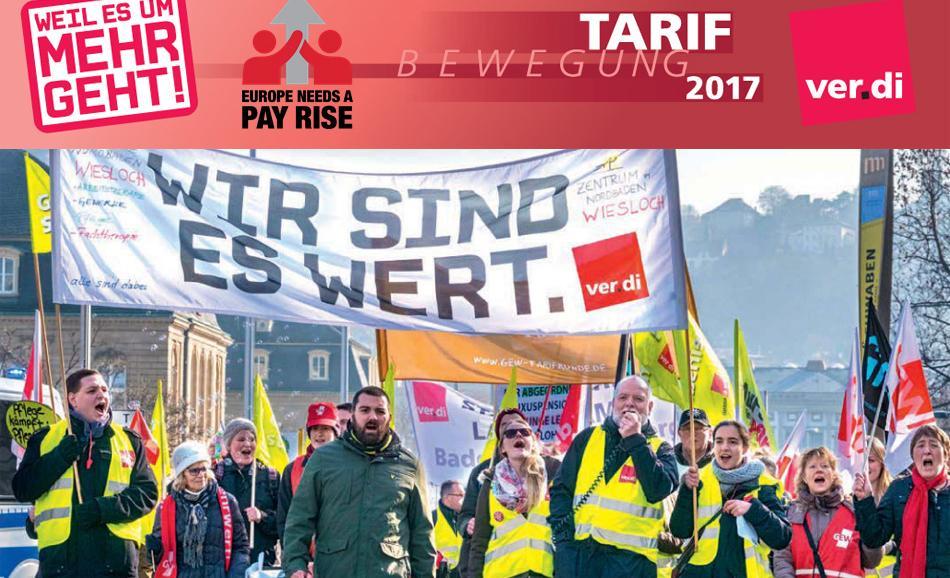 Ver.di pay rise public sector