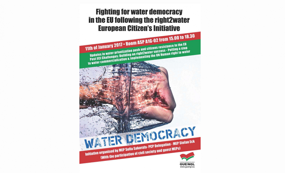 Water democracy - GUE NLG event EP 11 January 2017