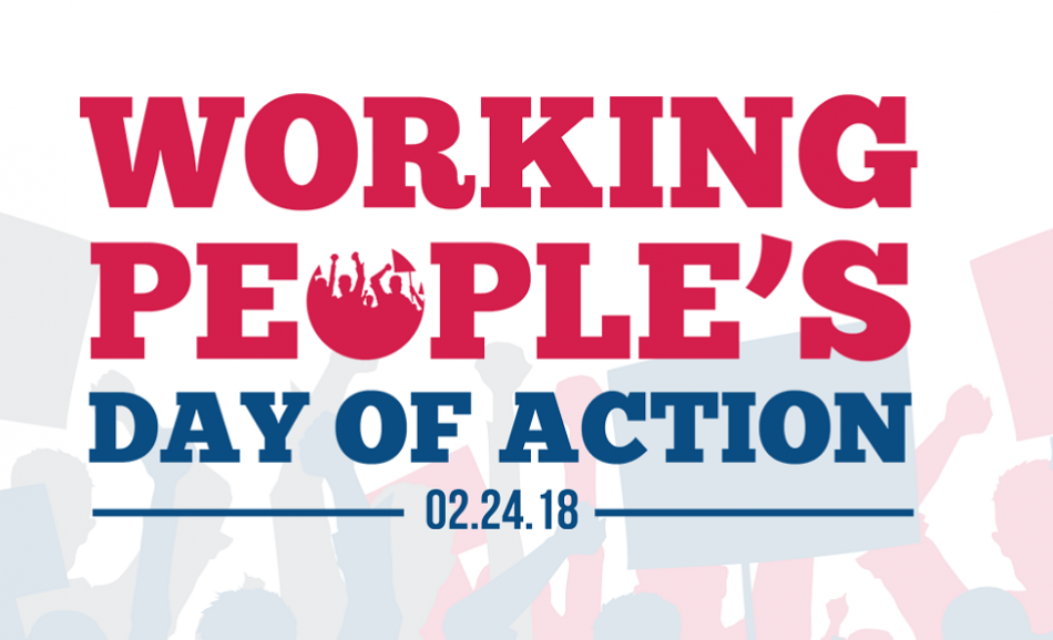 Working people's day of action 24 February 2018 USA