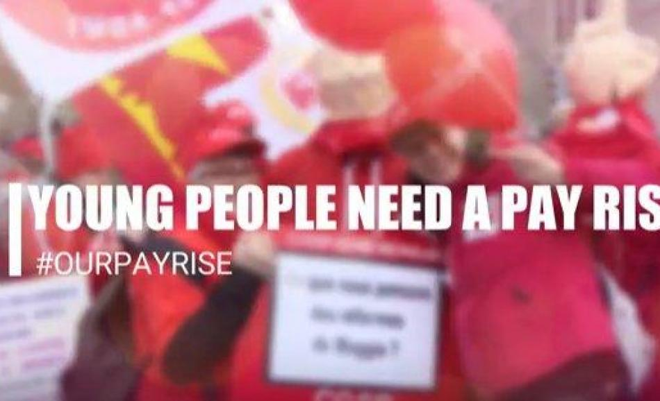 ETUC pay rise campaign Young people