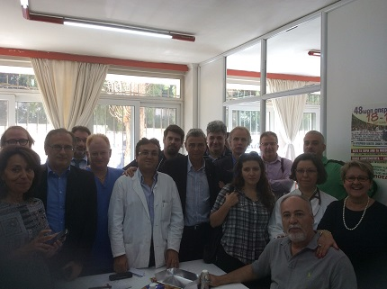 Meeting with ADEDY representative in the Public Hospital in Athens 14 October 2015