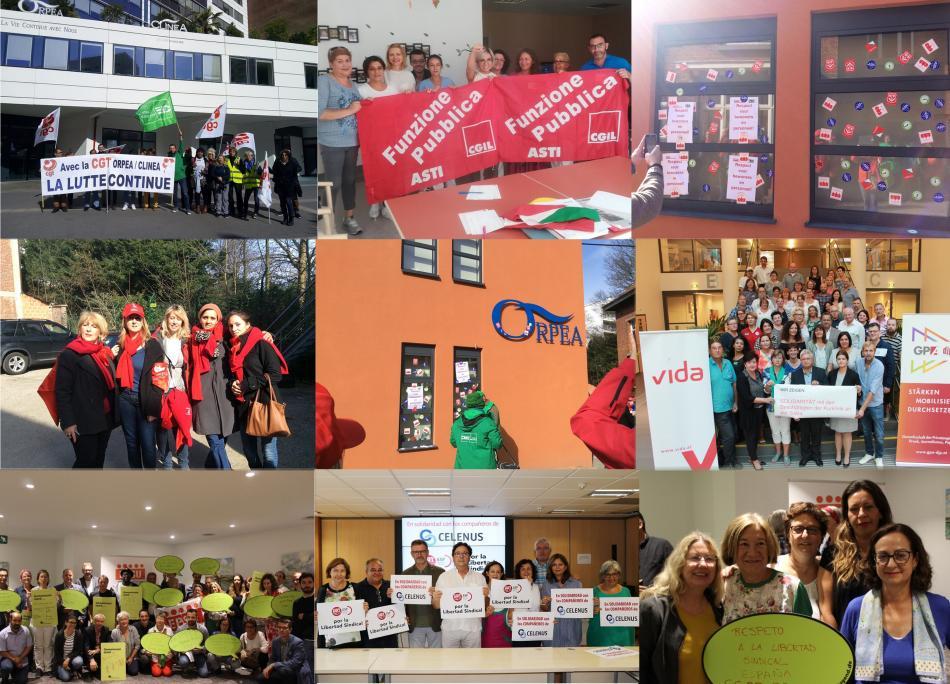 Solidarity ORPEA photos mosaic