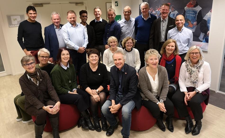 Avyo union from Norway visiting EPSU 30 November 2018