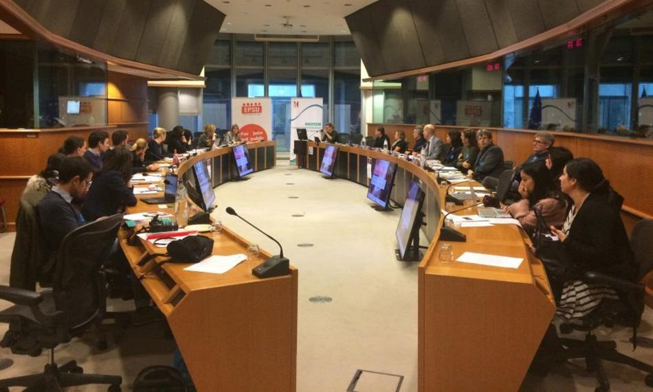 3 December 2018 EPSU-HOSPEEM Dissemination workshop in European Parliament