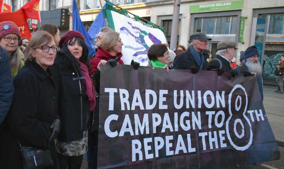 Demonstration in Dublin, international Women's Day