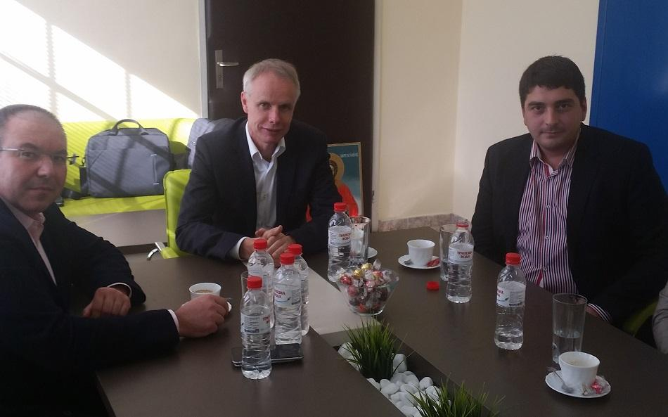 Meeting between EPSU, the local union president of FSZ and the director of Alexandrovska University Hospital in Sofia, 13 October 2016