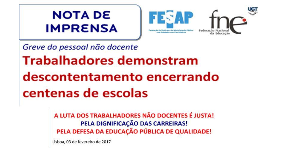 Strike in Portugal 3 February 2017