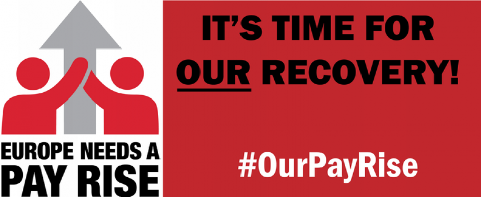 ETUC pay rise campaign logo