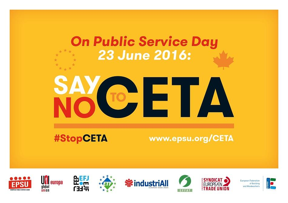 Public Servces Day 23 June 2016 - say not to CETA!