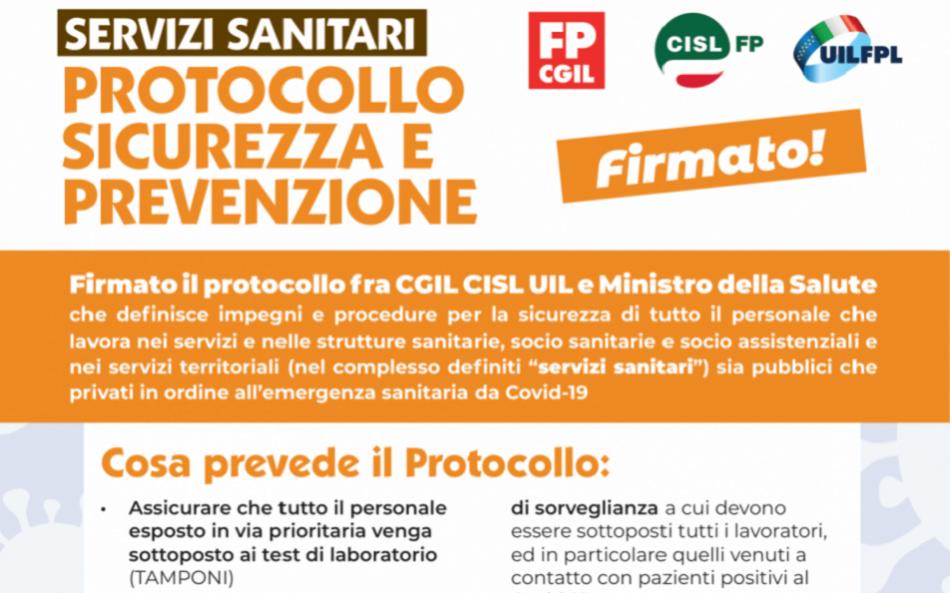Coronavirus agreement Italy health workers safety