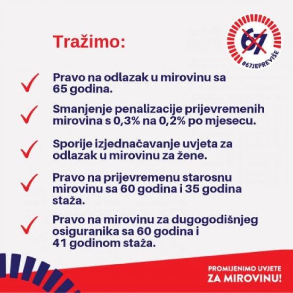 Croation trade union pension campaign