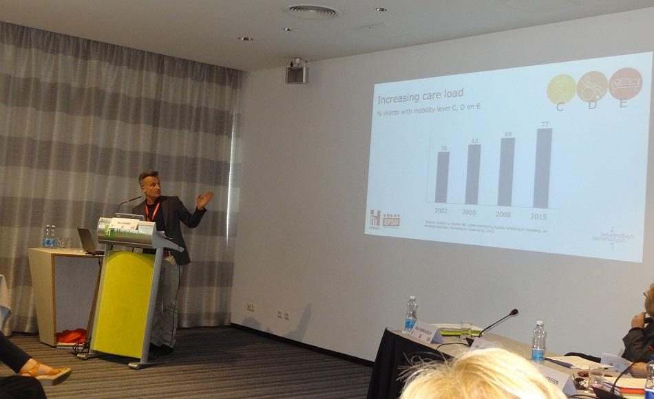 Nico Knibbe at the Conference in Vilnius on Psycho-social risks and stress in the hospital sector