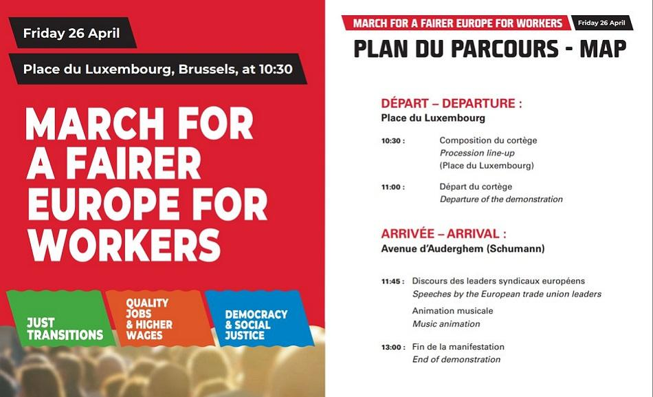 Euro-Demo 26 April 2019, Brussels - for a fairer Europe for workers