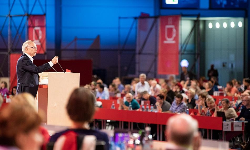 EPSU General Secretary Jan Willem Goudriaan speaking at ver.di Congress Leipzig September 2019