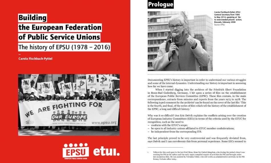EPSU history book cover