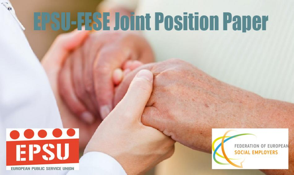 EPSU - FESE Joint position paper social services
