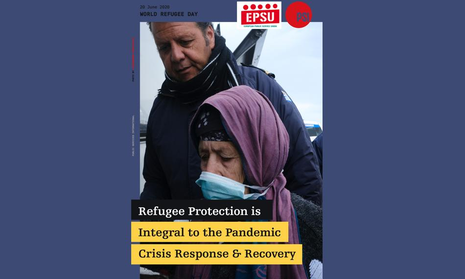 20 June 2020 - World Refugee Day - EPSU - PSI Poster