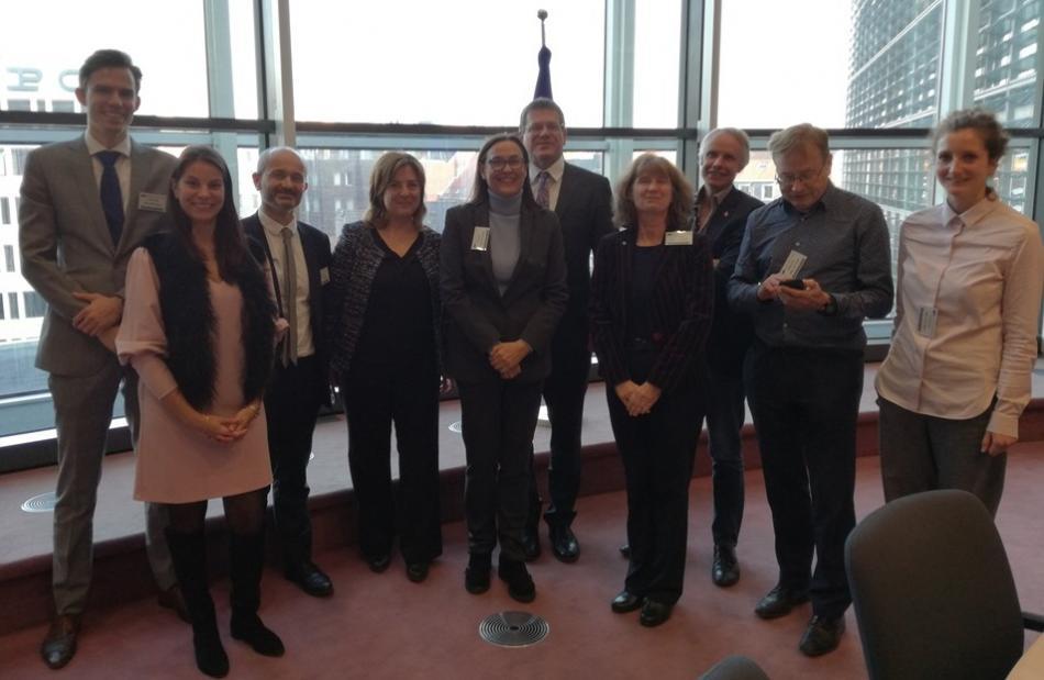 22.11.2018 ETUC delegation and employer organisations meet EU Commission Vice-President Šefčovič