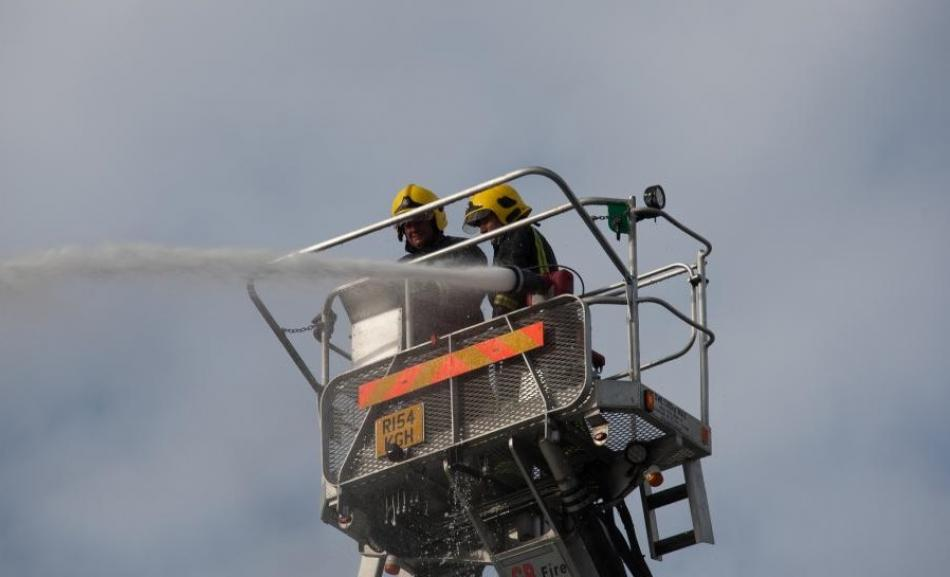 Firefighters photo from FBU UK