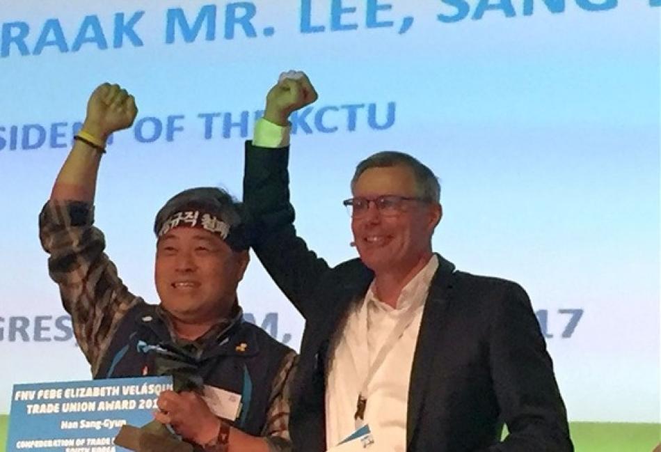 solidarity Korean trade Union leader
