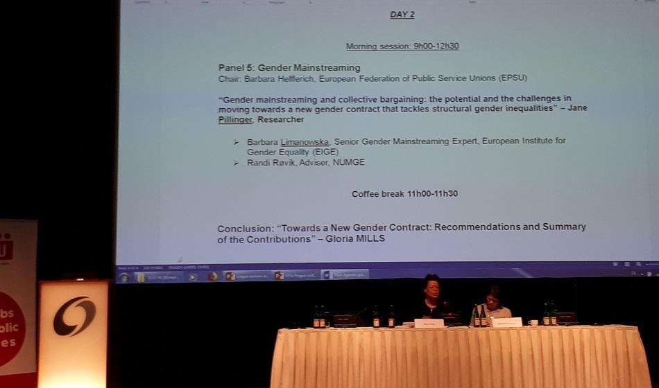 Gloria Mills speaking at WGEC conference Prague, 7-8 February 2018