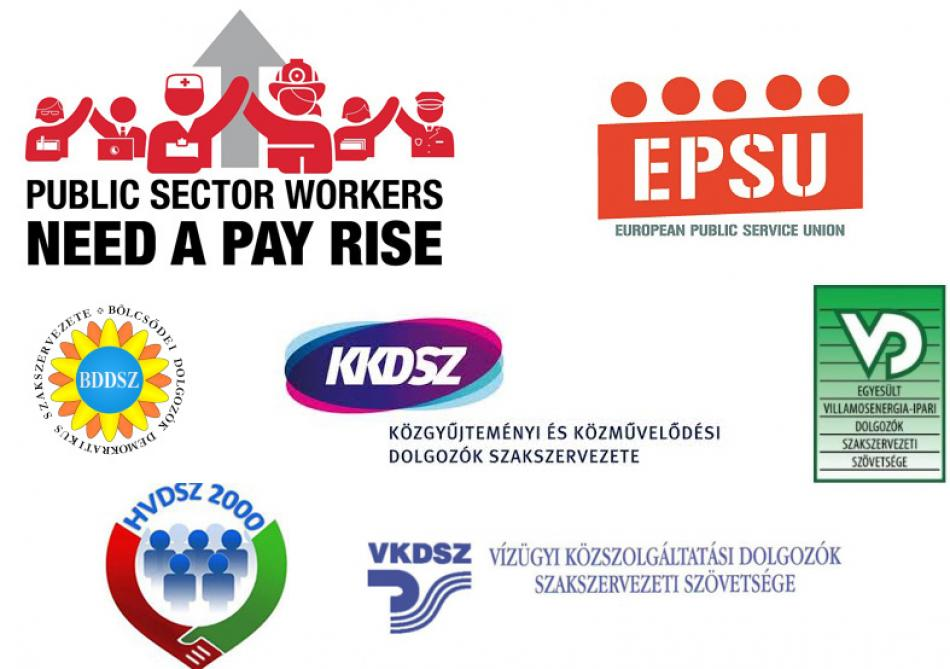 EPSU Hungarian affiliates support Pay Rise campaign for Public Service Day 23 June 2017