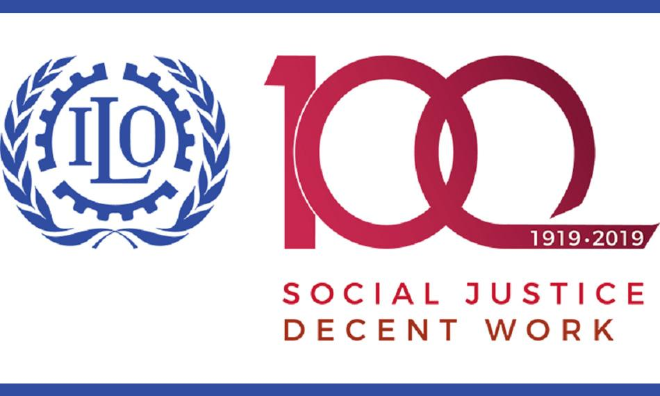ILO 100th birthday logo