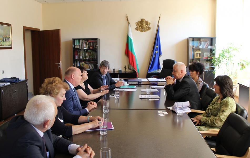 EPSU & HOSPEEM Meeting Bulgarian Health Minister Petrov