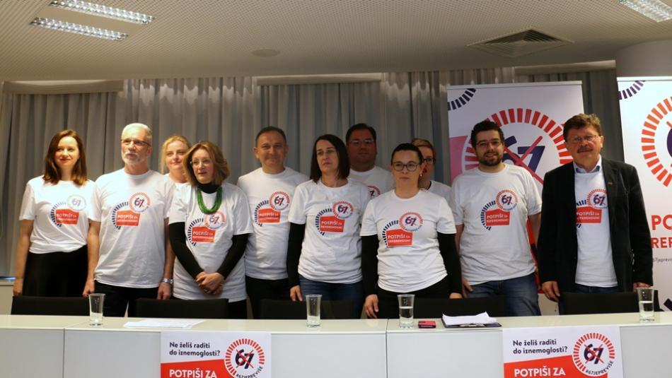 Croatian unions' pensions campaign