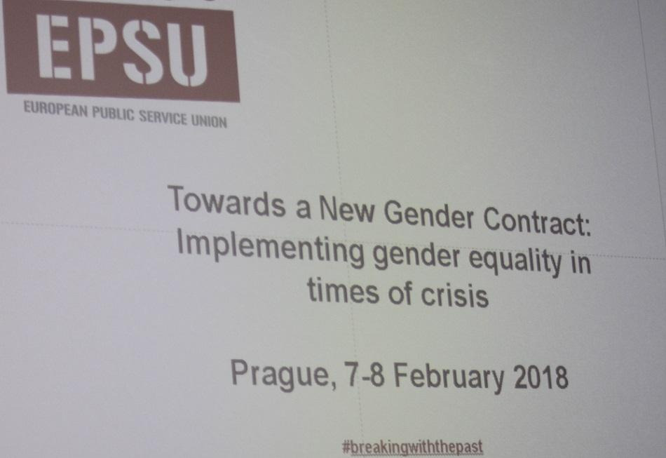 "EPSU conference Towards a New Gender Contract ""Prague Statement"" February 2018"