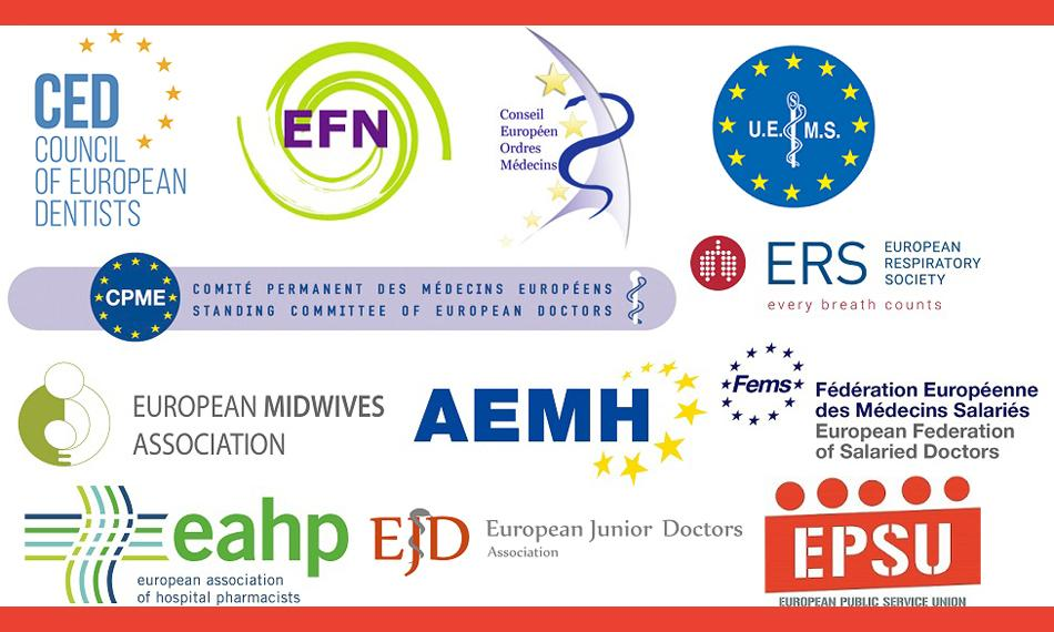 logos all statement european health professionals PRESS RELEASE COVID-19