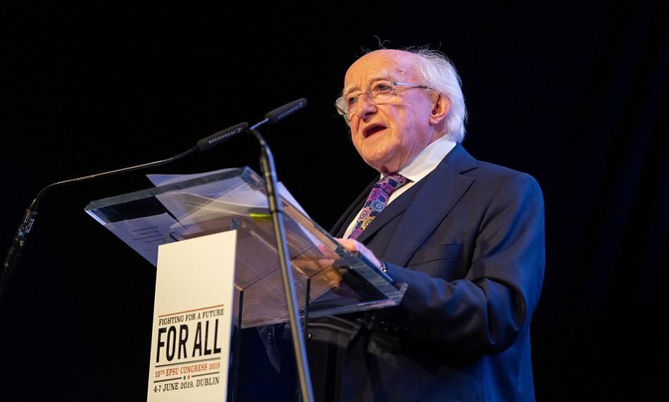 Michael D. Higgins EPSU Congress 2019 Dublin