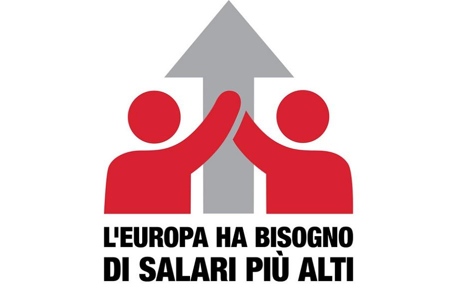 ETUC Pay rise campaign logo italian version