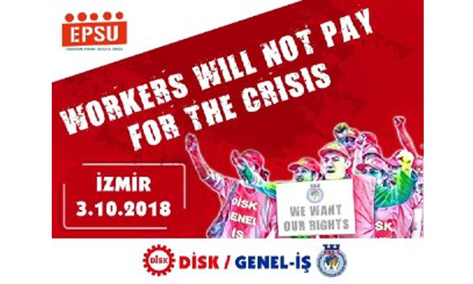 Workers will not pay for the crisis DISK-GENEL-IS