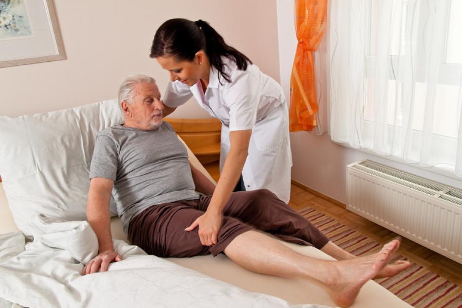 Stock Photo - Nurse in aged care - gina_sanders