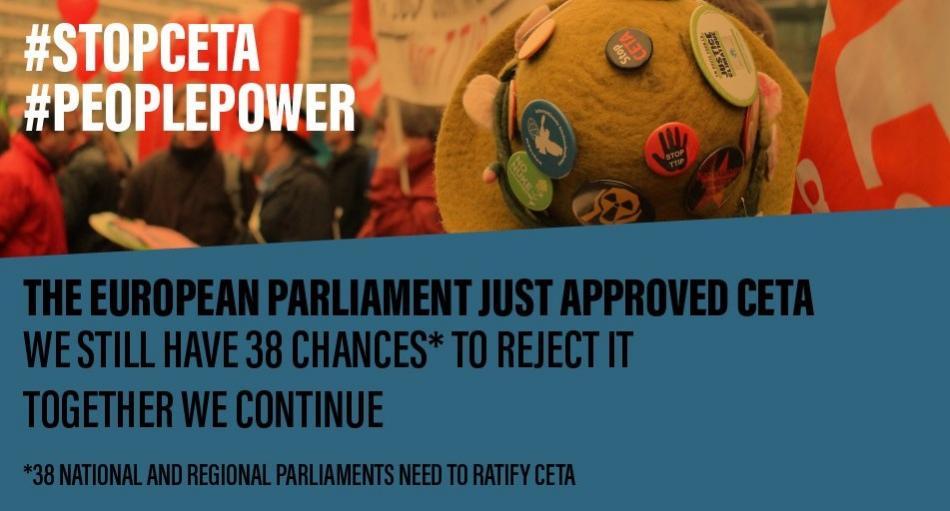 Stop CETA - EP vote 15 February 2017