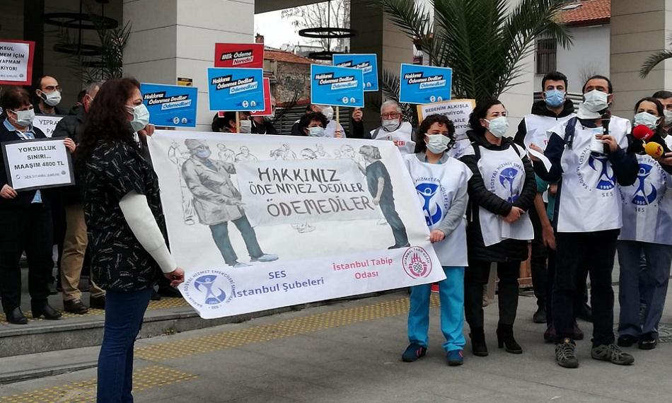 campaign for health workers health & safety in Turkey 2021