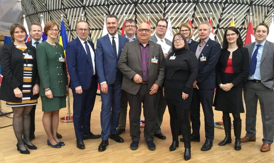 Trade union delegation for the Tripartite Social Summit, 20 March 2019, Brussels