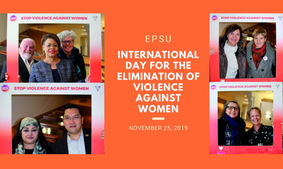 EPSU campaign International day for elimination of violence against women 25 November 2019