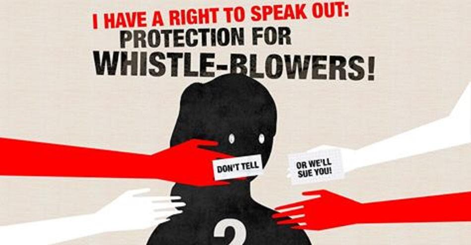 I have the right to speak out - protect Whistleblower