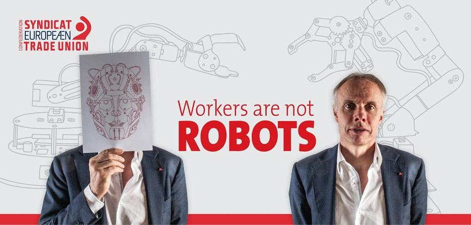 Workers are not robots, EPSU General Secretary J.W. Goudriaan at ETUC Executive Committee June 2016