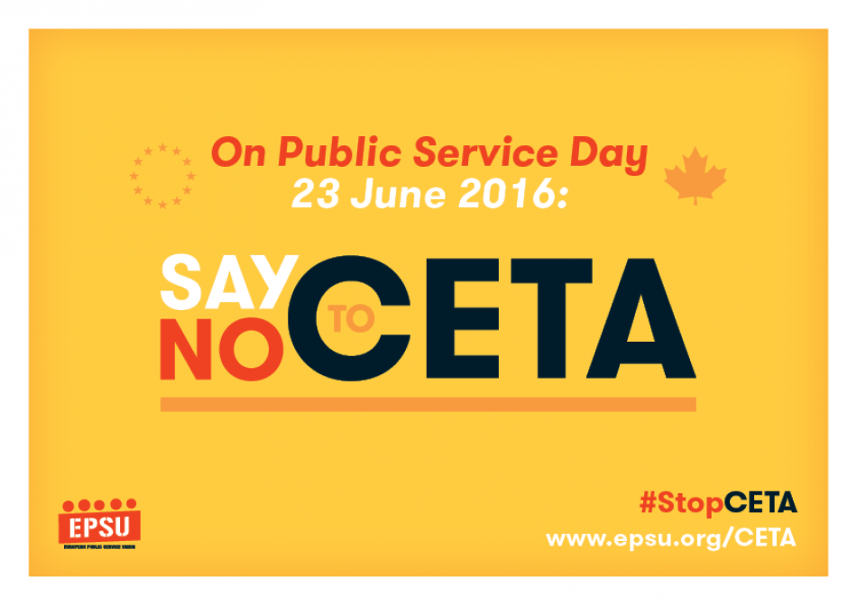 Say No To Ceta Epsu Campaign Materials Epsu