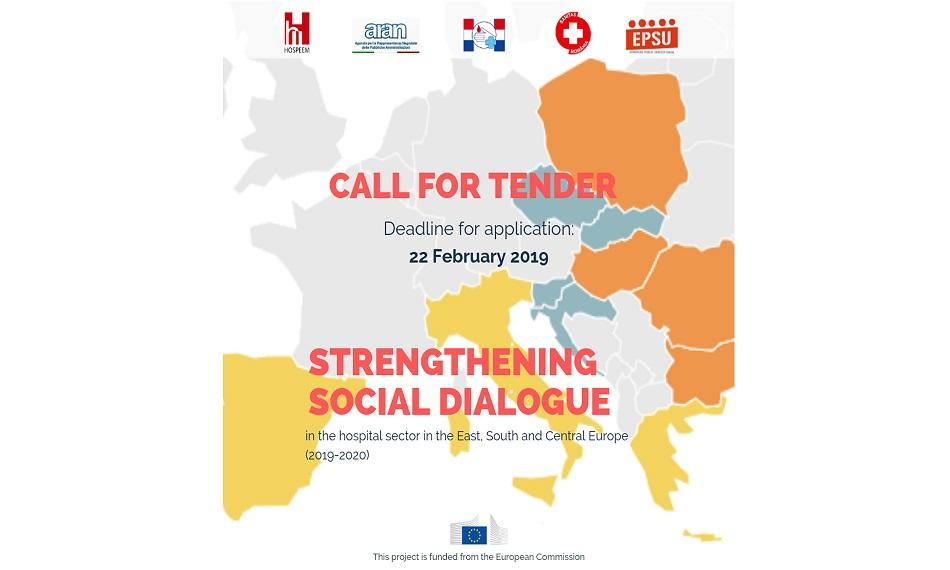 Call for tender social dialogue in the hospital sector in the East, South and Central Europe